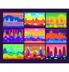 Game Background Set vector