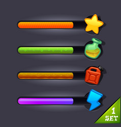 Game resource bar-set 1 vector
