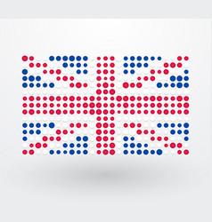 great britain flag made up of dots vector image