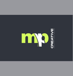 Green letter mp m p combination logo icon company vector