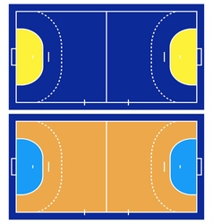 Handball court vector image