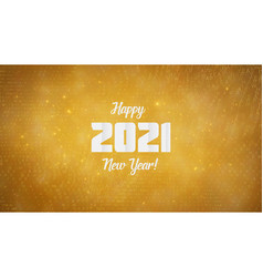 happy new year 2021 wavy background with golden vector image