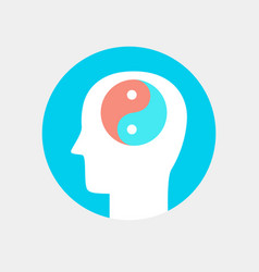 Human head icon harmony concept flat style vector