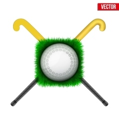 Icon Hockey ball and sticks vector image