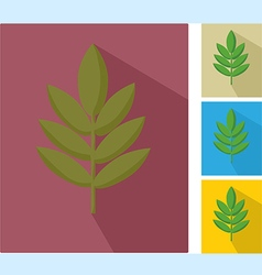 Icons with leaf vector