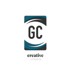 initial letter gc creative abstract logo template vector image