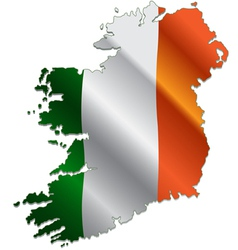 Ireland map with flag vector