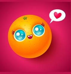 Kawaii orange vector