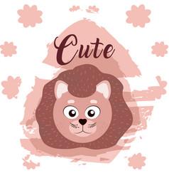 Lion cute animal cartoon vector