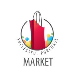 logo shopping bag vector image