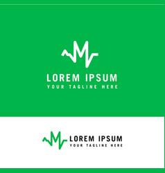 m logo design inspiration letter m medical logo vector image