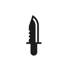 military knife on white background vector image