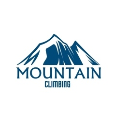 Mountain climbing sport isolated icon vector image