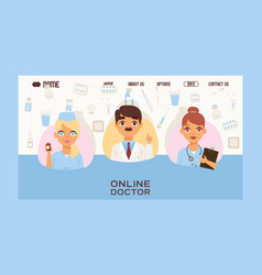 online doctors team and other hospital workers vector image