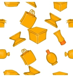 Packing pattern cartoon style vector