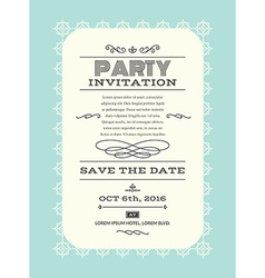 Party invitation card vector image