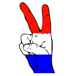 Peace Sign of the Dutch flag vector image