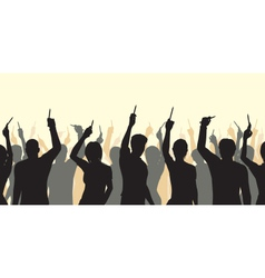 Pencil solidarity crowd vector image