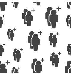 people with plus sign seamless pattern business vector image