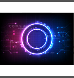 Pink blue light futuristic game technology vector
