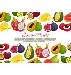 Poster of tropical exotic fruits vector