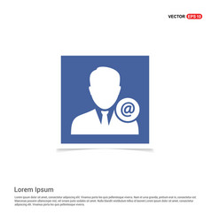 Protected user icon - blue photo frame vector