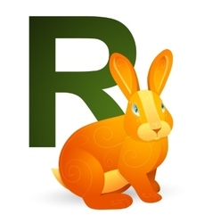 R for Rabbit vector image