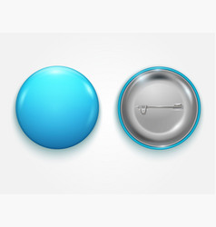 realistic blue blank badge vector image