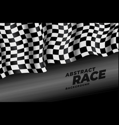 realistic checkered racing flag speed background vector image
