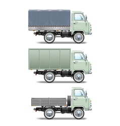 Retro Light Truck vector image