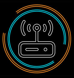 router modem vector image