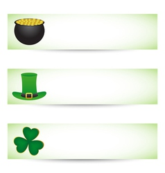 Saint Patricks day banners vector image