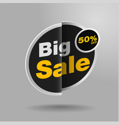 sale banner stickers design vector image