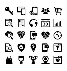 seo and digital marketing glyph icons 4 vector image
