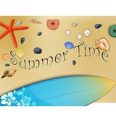 Set of holiday summer on beach vector