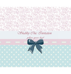 Shabby chic lace invitation vector image