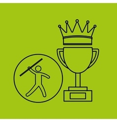Silhouette person javelin winner sport vector