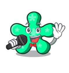 singing free form mascot cartoon vector image