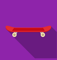skateboard icon in flat style isolated on white vector image
