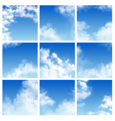 Sky pattern cloudy backdrop and blue vector
