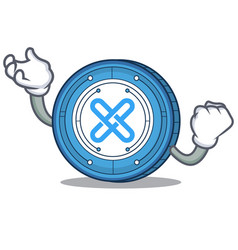 Successful gxshares coin character cartoon vector