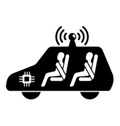 Test driverless car icon simple style vector