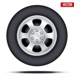 Tire and wheel of car vector image