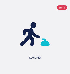 Two color curling icon from health concept vector
