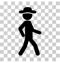 Walking gentleman icon vector
