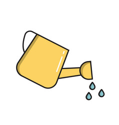 water can simple gardening icon in trendy line vector image