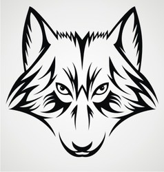 Wolf Face Tribal vector image