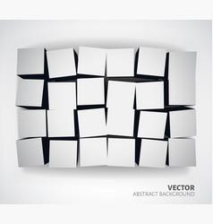 3D Cubes background vector image