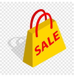 bag with word sale isometric icon vector image vector image