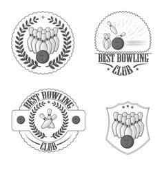 Bowling clib vector image vector image